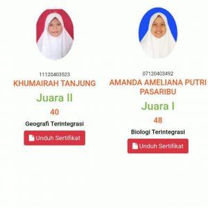 Siswa MAN 1 Tapanuli Tengah mewakili Kabupaten dalam KSM